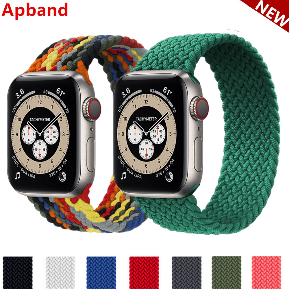 Braided Solo Loop For Apple Watch band 44mm 40mm 42mm 38mm Fabric Nylon Elastic Belt Bracelet iWatch Series 3 4 5 SE 6 S