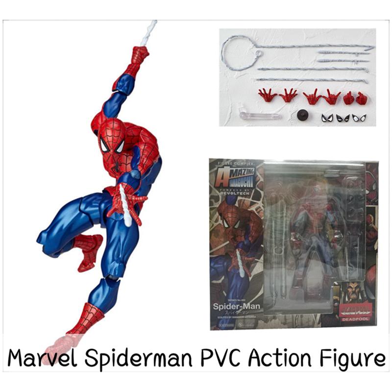 ღღMarvel Spiderman PVC Action Figure The Avengers PVC Figure Yamaguchi Spiderman Figure Children Kid Toy Gift KW18