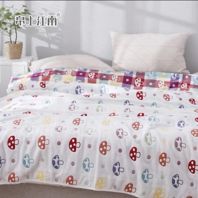 ผ้าห่มสาลู 6 ชั้น ขนาด 5ฟุต(150*200cm)