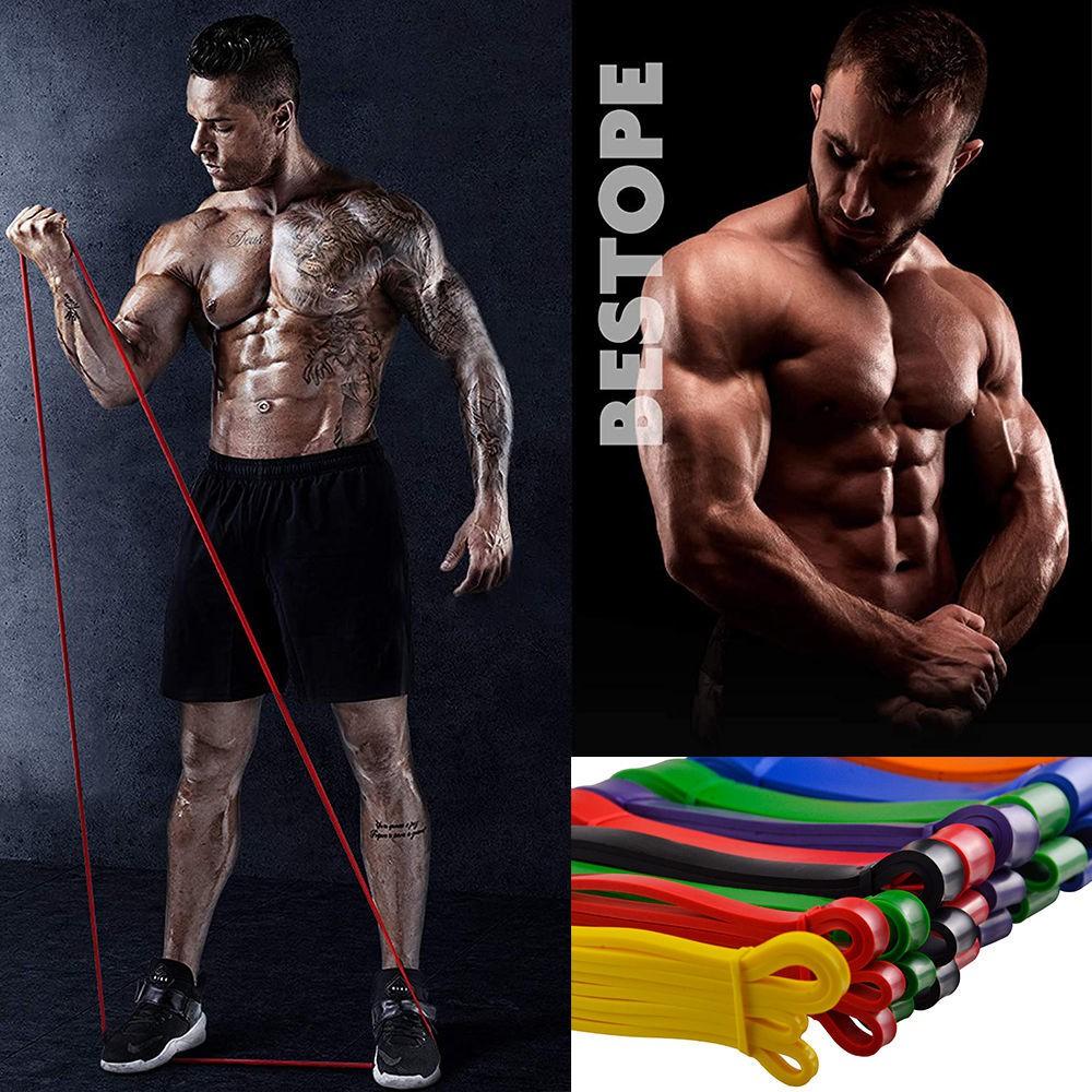 ออกกำลังกาย (พร้อมส่ง) อุปกรณ์ออกกำลังกาย ❏✲◊แถบความต้านทาน แถบยางยืด การฝึกความแข็งแรง ฟิตเนส เชือกยางยืด ผู้ชายและผู้ห