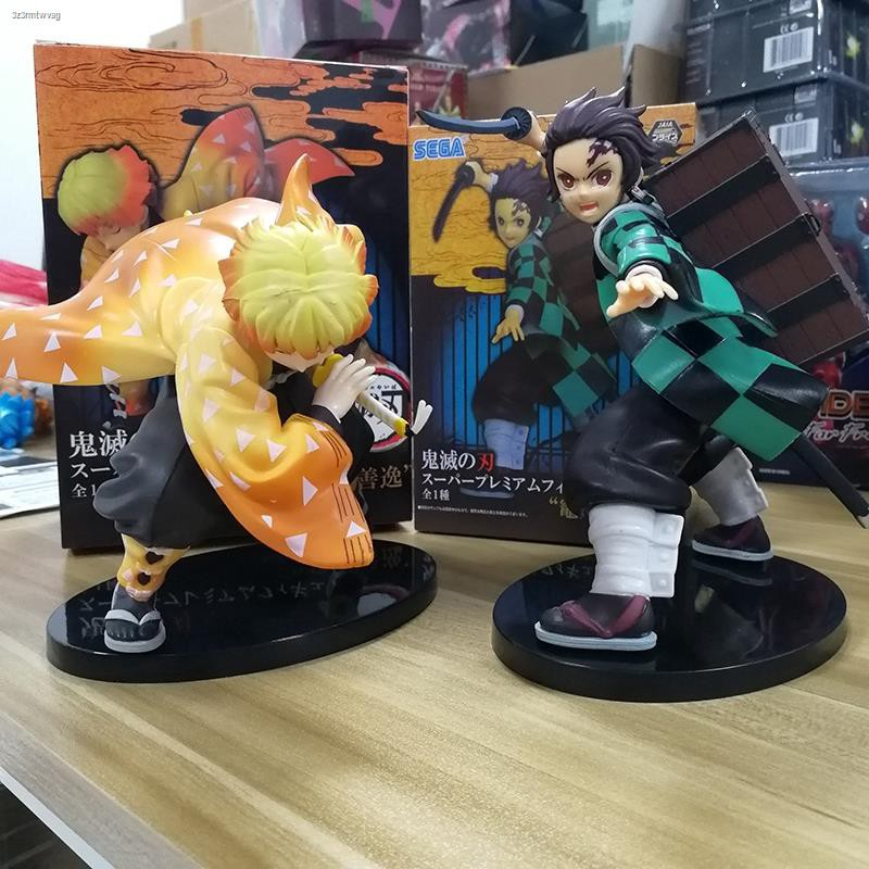 Anime Demon Slayer Kimetsu No Yaiba Tanjiro Zenitsu PVC Figure Collectible Model Dolls Kid Toy