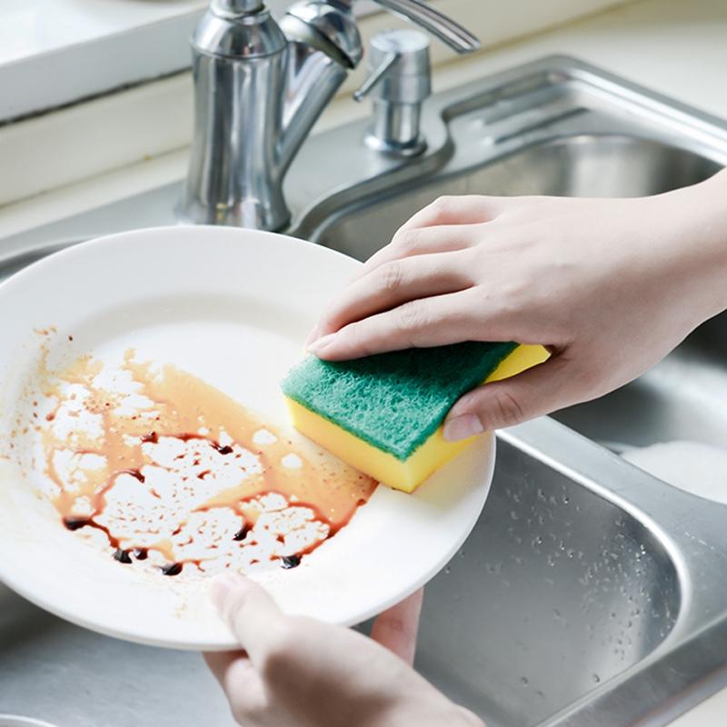 แปรงล้างจานแปรงจานน้ำมันผ้าฟองน้ำครัวของใช้ในครัวเรือน