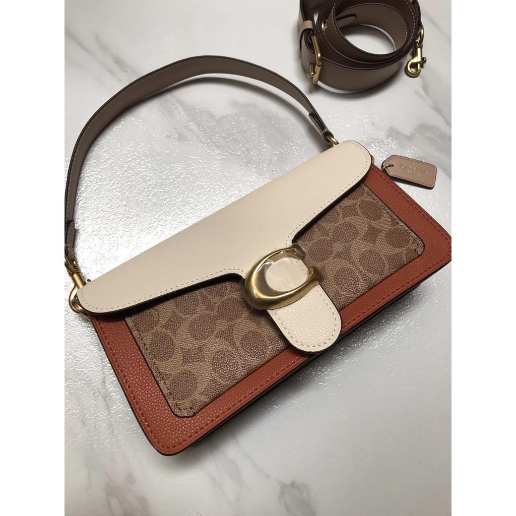 ❇[DF] Coach กระเป๋าสะพายสตรีแฟชั่นคลาสสิก / กระเป๋าธุรกิจ / กระเป๋าสะพายข้างใบเล็กน่ารัก / กระเป๋าเดินทางหัวเข็มขัดโลห
