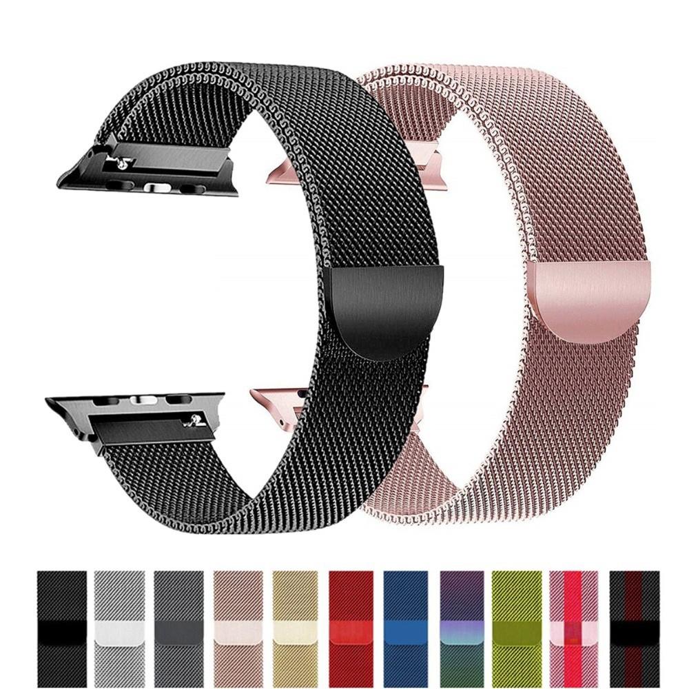 ( Apple Watch Strap ) สายนาฬิกาข้อมือสแตนเลสสําหรับ Apple Watch Series 6 Se 5 4 3 2 1