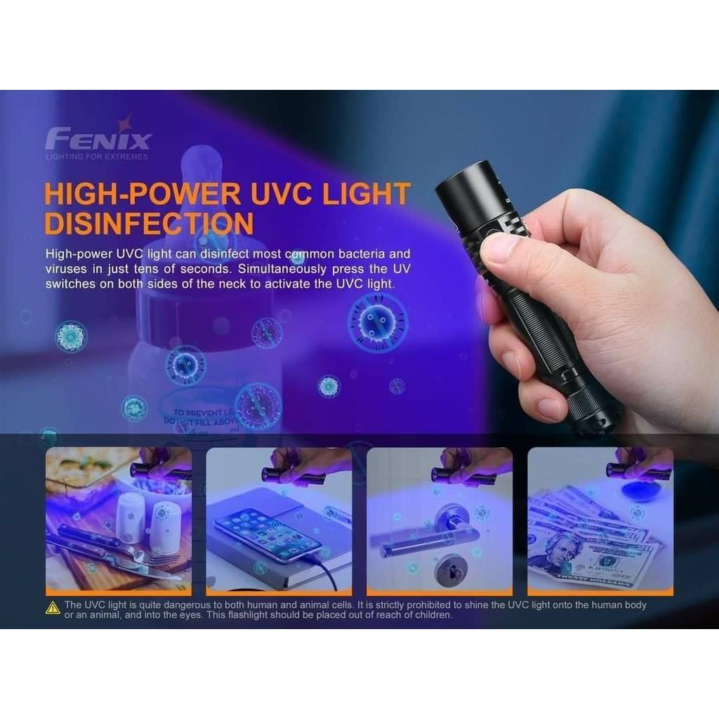 ไฟฉายพร้อมแสงยูวีซี Fenix LD32 UVC