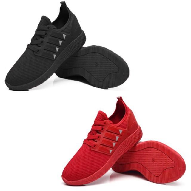 รองเท้าแตะรัดส้น รองเท้าคัชชูเปิดส้น รองเท้า รองเท้าผ้าใบผู้ชาย รุ่นA011 มี2สี ดำ/แดง