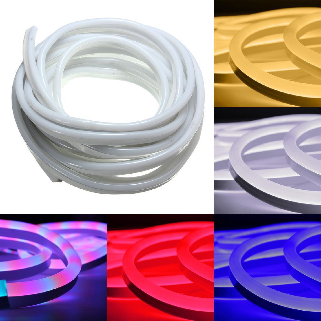 US Plug 110V LED Strip Light SMD 5050 Flexible Tape Home Outdoor Lighting Rope