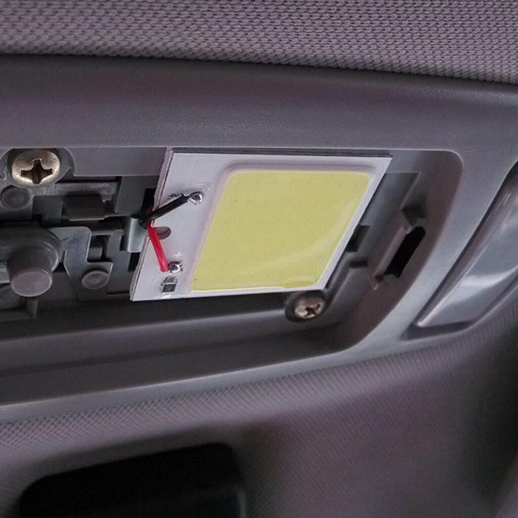 ✨🌻❄☼ไฟ เพดาน รถยนต์ กลาง เก๋ง ส่อง สัมภาระ หลอดไฟ 48 SMD COB LED T 10 4 W 12V จำนวน 1แผง แท้ 100 % (สีขาว) สำหรับติ...