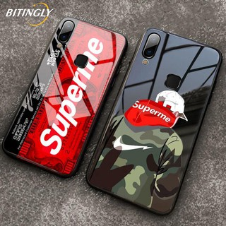 Review Huawei Y7 Pro Y9 2019 Nova 4 Y9 Prime 2019 Nova 5T Stylish Glass Casing Supreme Cover Tempered Glass Case
