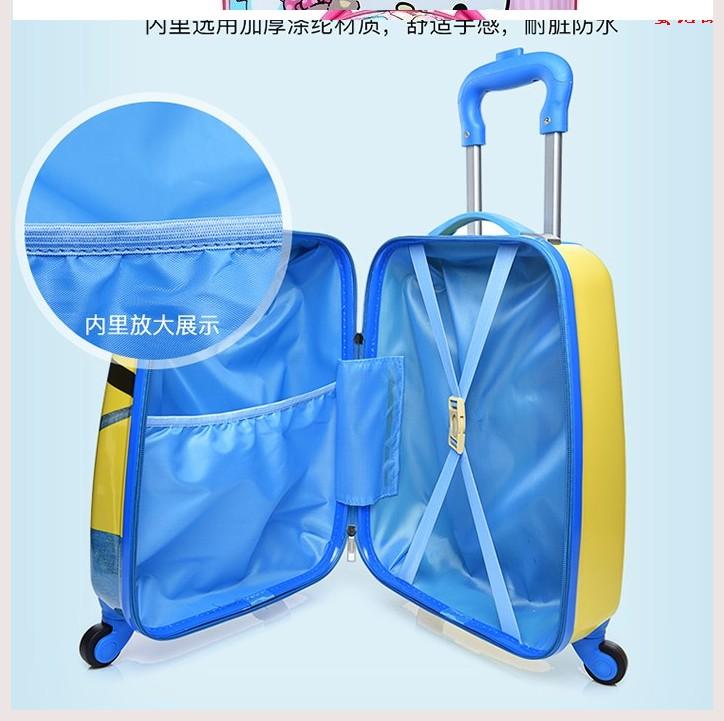 ≩⅚ กระเป๋าเดินทางพกพา  กระเป๋ารถเข็นเดินทาง2020 กระเป๋าเดินทางหญิงน่ารักเด็กน่ารักกระเป๋าเดินทางเจ้าหญิงหญิงสมบัติรถเข็น