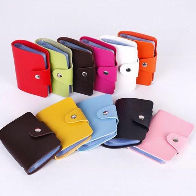 กระเป๋าใส่บัตร เครดิต กระเป๋าใส่นามบัตร ผลิตจากหนังpu สินค้ามาใหม่(w-044)(flash Sale ขอคละสีนะคะ).