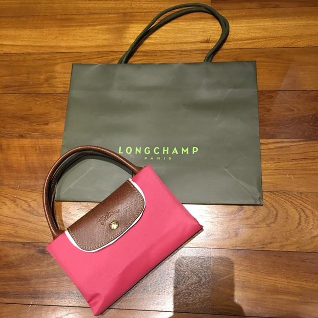 a080bd1f9c3d กระเป๋า longchamp รุ่น Le pliage สี rouge Size s หูยาว มือสอง ของแท้100%
