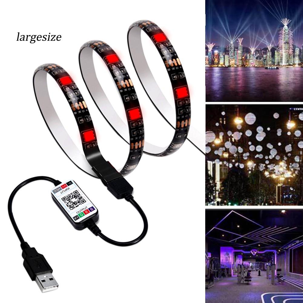 LGSZ☼5050 RGB USB Bluetooth APP Control Flexible Ambient Strip Light + LED Controller