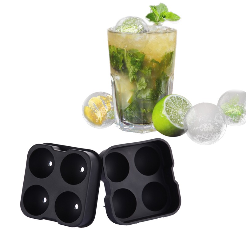 2 In 1 Crystal Clear Ice Ball Maker Silicone Ice Mold Tray Ice Cube Maker Tray