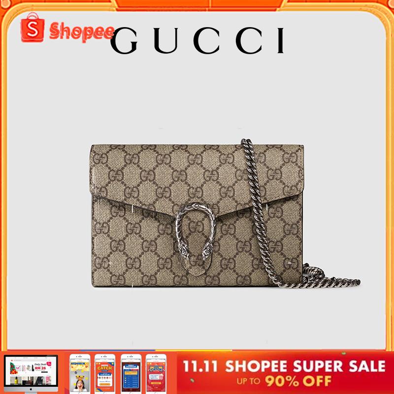 🔥บิ๊กเซล 🔥Gucci Dionysus GG Supreme Canvas Chain Bag