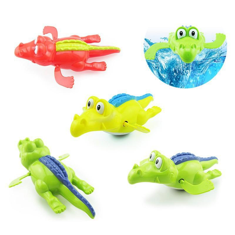 1*Clockwork Swim Crocodile Wound-up Baby Kid child Bathing Toy For Bathroom Gift