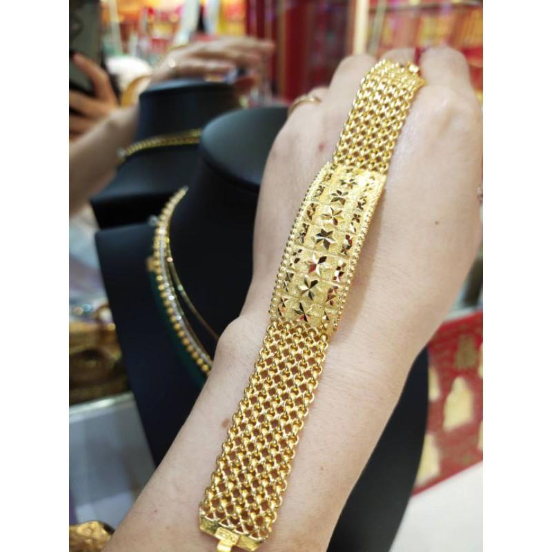 ซืัอเฮงใส่ดี สร้อยมือทอง96.5%  น้ำหนัก 2บาท ยาว 17.4cm ราคา 56,000บาท