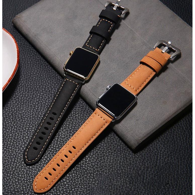 สายหนัง Apple Watch Band 42mm 44mm 40mm 38mm สายหนังแท้พรีเมี่ยม iWatch Series 6 5 4 3 2 1,Apple Watch SE สาย Apple watch มีทุกขนาด ทุกSeries สายหนัง Leather Band