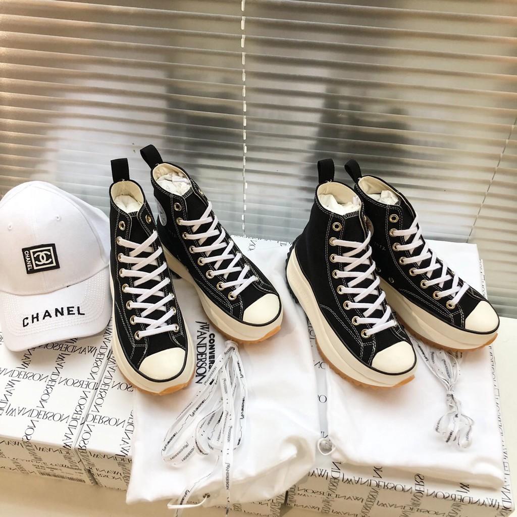 Converse JW Anderson x Run Star Hike Hyuna high tube platform canvas shoes 164840C
