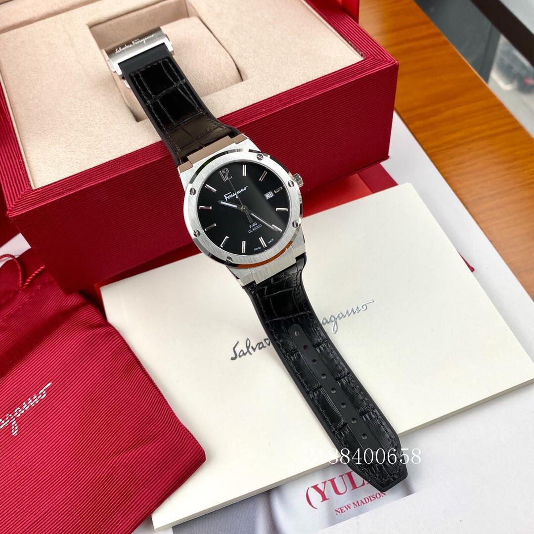ラ✮สายนาฬิกา smartwatchสายนาฬิกา gshockสายนาฬิกา applewatchFerragamuดูเป็นกลางใหม่F-80บางเฉียบเหล็กแปรงเทปกันน้ำแฟชั่นลำล