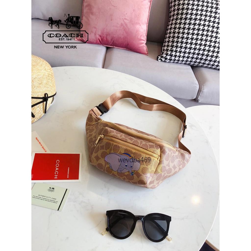 หุ้น】โค้ชกระเป๋ารุ่นใหม่กระเป๋าคาดเอวกระเป๋าคาดอกกระเป๋า Cro