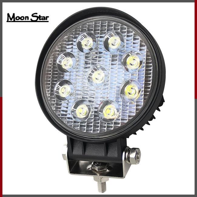2X 4INCH 54W Round LED WORK LIGHT BAR Flood OFFROAD DRIVING FOG LAMP 12V//24V