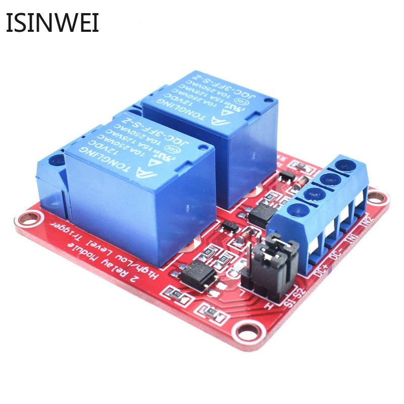 2pcs 2 Road 2 Way 5V Relay Module//Expansion Board with Opto Protection Module