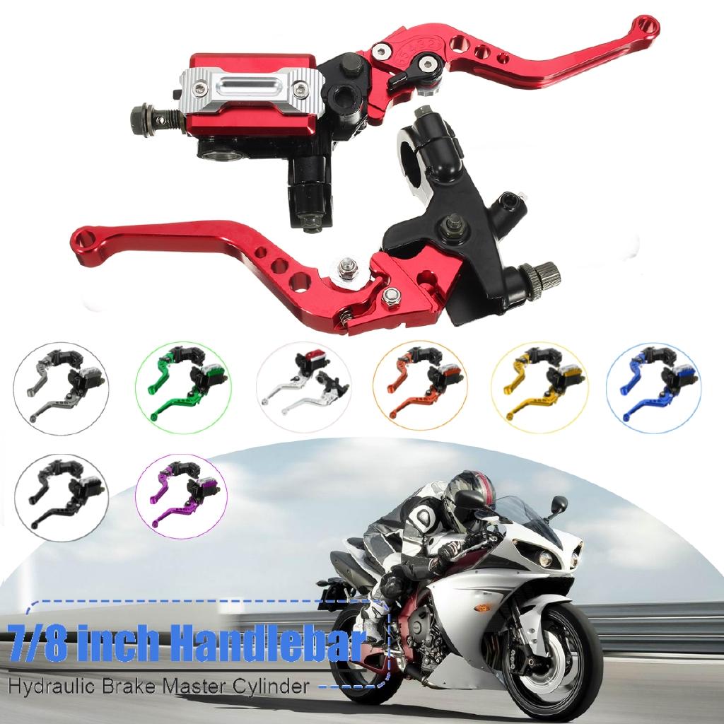 """7//8/"""" Universal Motorcycle Front Brake Clutch Lever Master Cylinder Reservoir"""