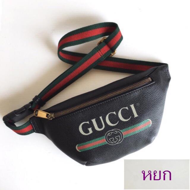 หยกถูกที่สุด ของแท้ 100% Gucci Print Small Belt Bag