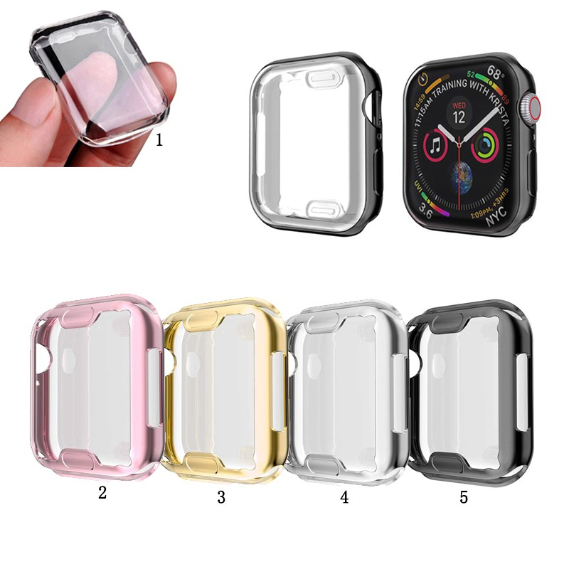 เคสฟิล์มกันรอยหน้าจอ Tpu สําหรับ Apple Watch Series 5 4 3 2 1 38 มม . 40 มม . 42 มม . 44 มม .