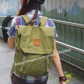 fjallraven kanken Foldsack No.1 G1000 army green สีเขียวทหาร กระเป๋าเป้ ของ 100% kanken กระเป๋าเป้
