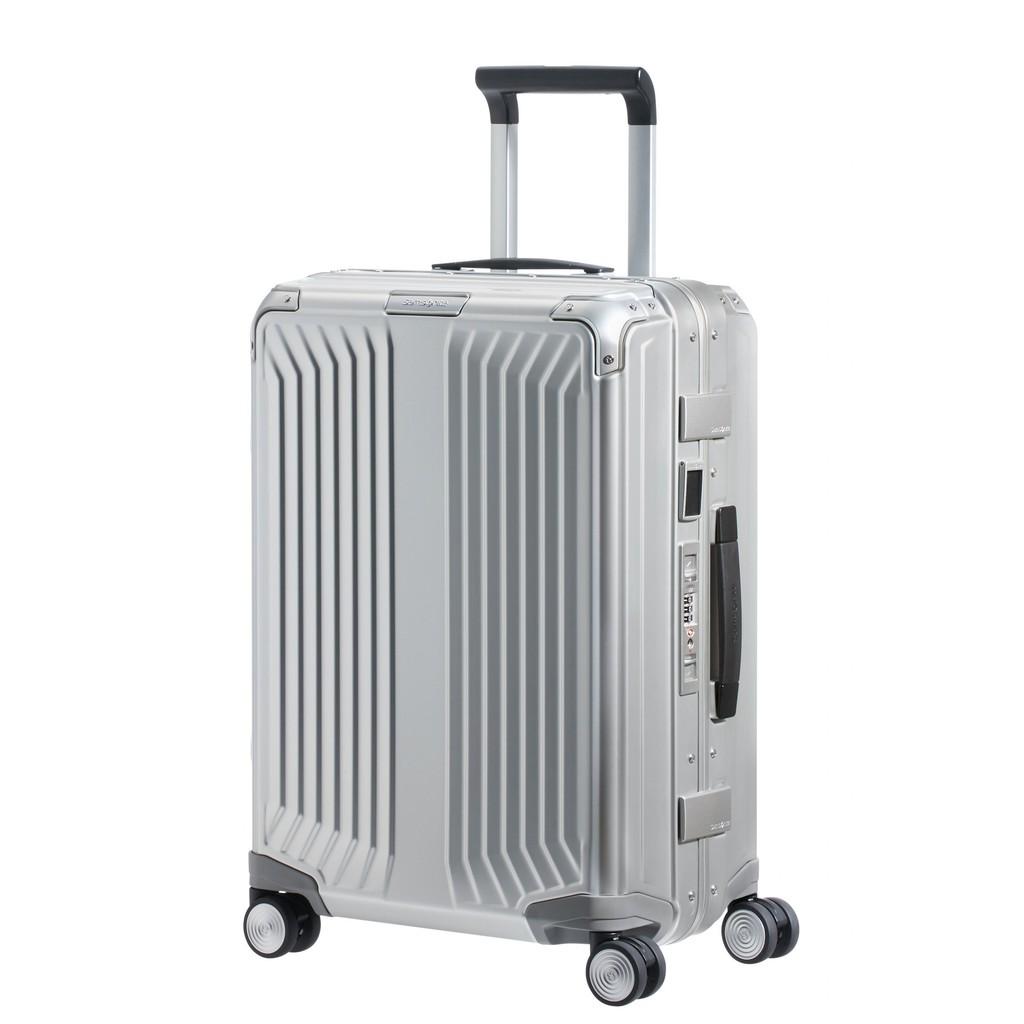 SAMSONITE กระเป๋าเดินทางล้อลากอลูมิเนียม (20 นิ้ว ) รุ่น LITE-BOX ALU SPINNER 55/20(แบบเฟรมล็อก)