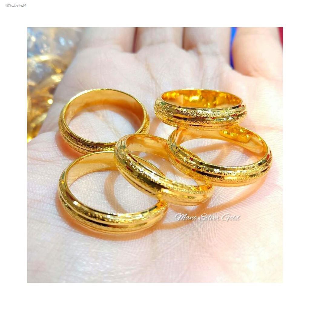 ราคาต่ำสุด✾แหวนทองไมครอน แหวนเกลี้ยงสามแถวทองไมครอน แหวนทองชุบ แหวนทองสวย  แหวนหนัก 1 สลึง