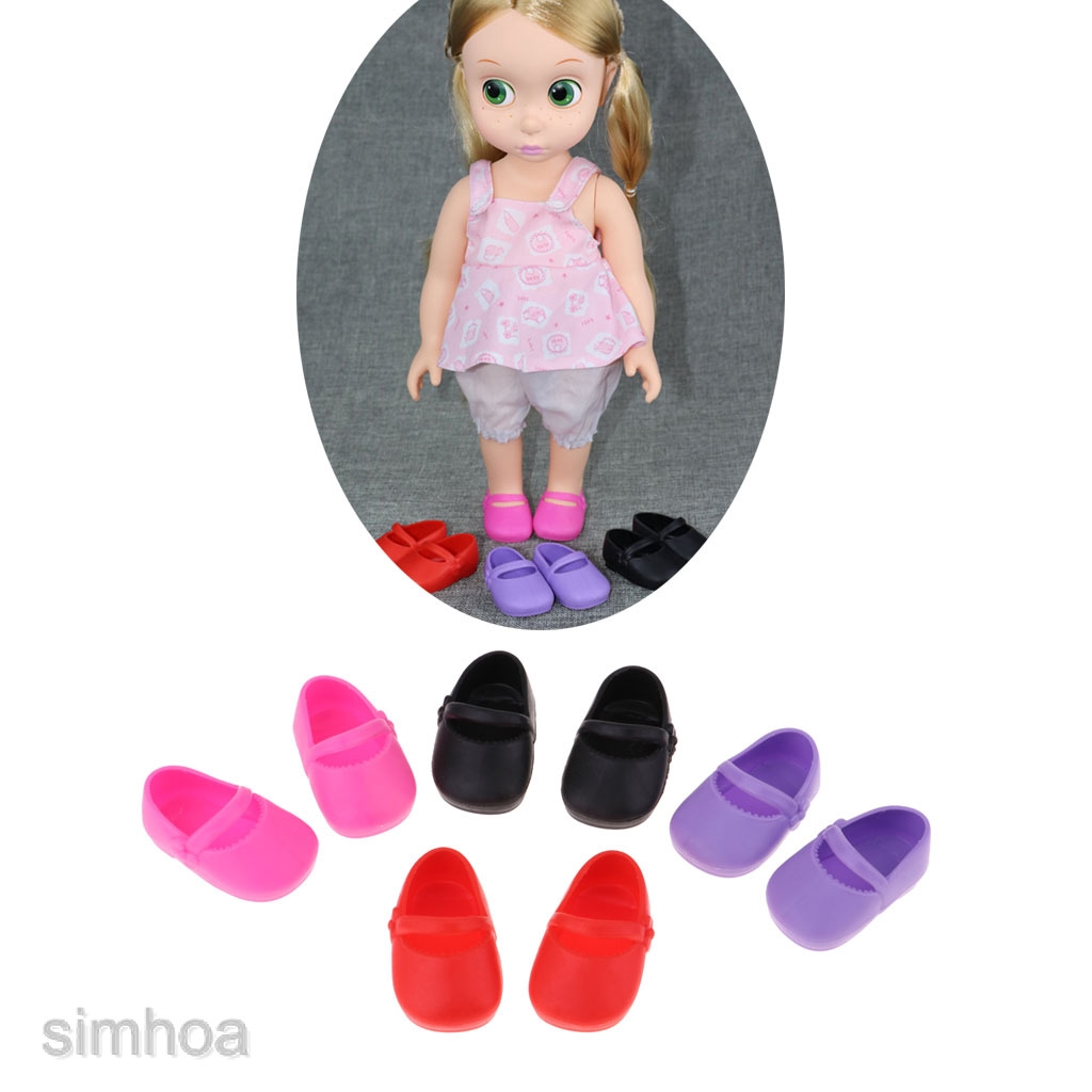"Princess Pink Vinyl Shoes Flats Outfit for 16/"" Sharon Doll Clothes Accessory"