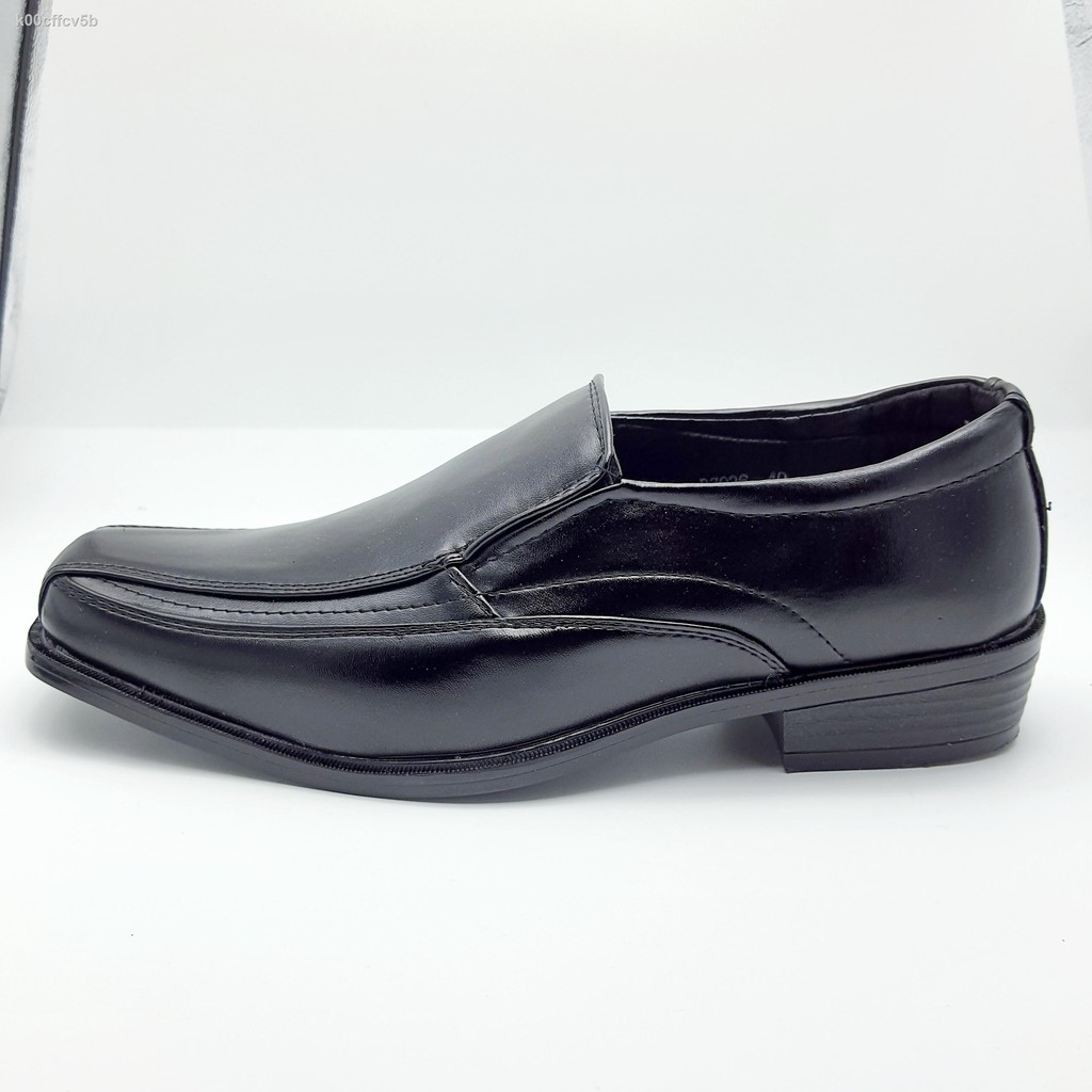 🔥รองเท้าผู้ชาย🔥✺❃○CSB รองเท้าคัชชูหนังแบบสวม BZ026 สีดำ ไซส์ 39-45