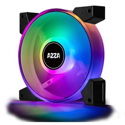 Fan PWM Dual Ring Digital RGB with Remote Controller AZZA 120mm. HURICANE II