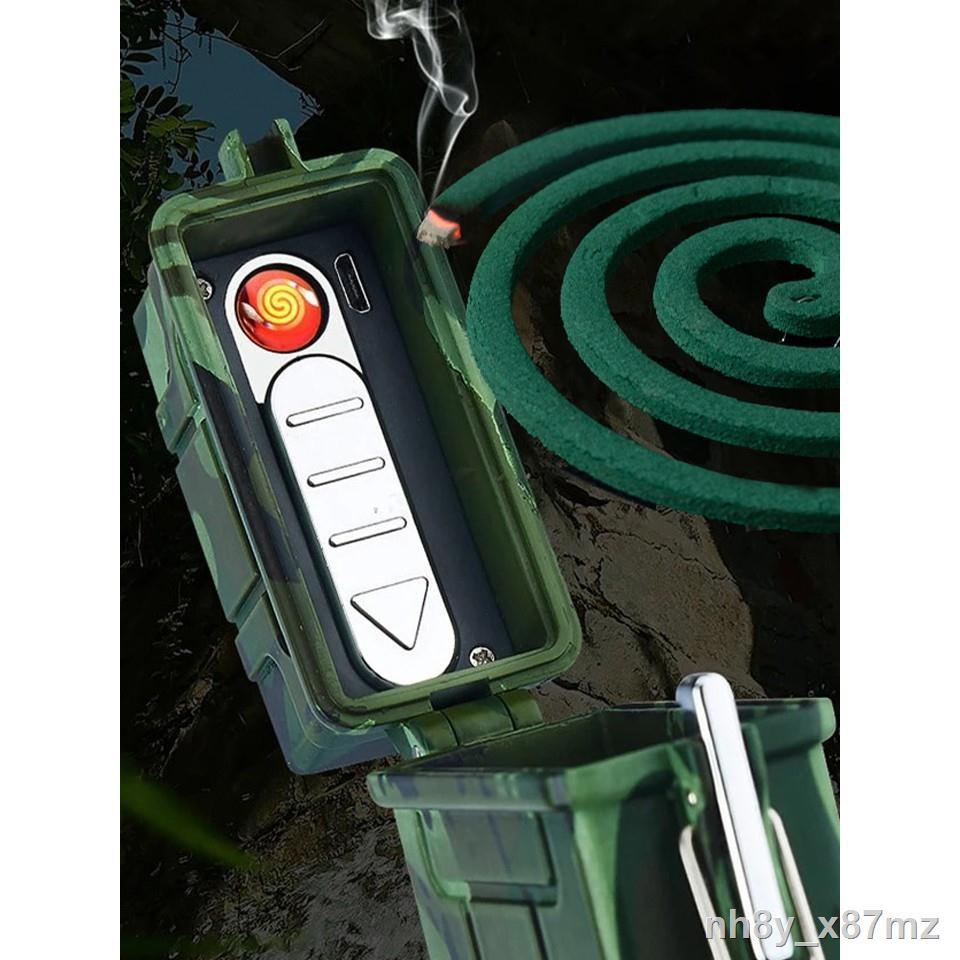 ราคาขายส่ง❀กล่องเก็บบุหรี่พร้อมที่จุดไฟแบบไฟฟ้า Waterproof USB Cigarette Holder and Lighter