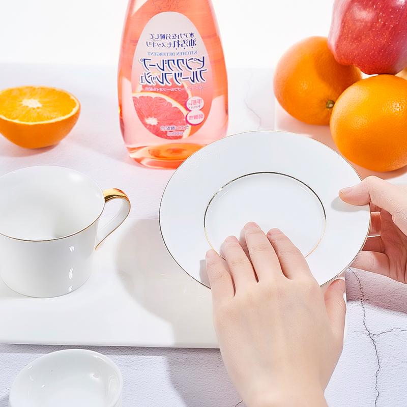 ▲ญี่ปุ่นนำเข้าล้างจานสิ่งประดิษฐ์ผงซักฟอกส้มโอบ้านปนเปื้อนครัว洁净剂บนโต๊ะอาหารน้ำมันผงซักฟอก■
