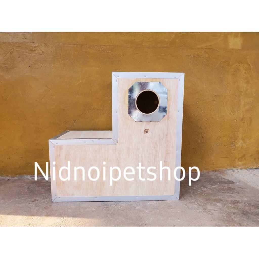 ⊙✽₪กล่องเพาะนก ( กล่องขนาดเล็ก ทรง L ) รังเพาะนก กล่องนอน บ้านนก หงส์หยก เลิฟเบิร์ด ค็อกคาเทล ฟอพัส ฟินซ์ ราคาโรงงานเลยจ