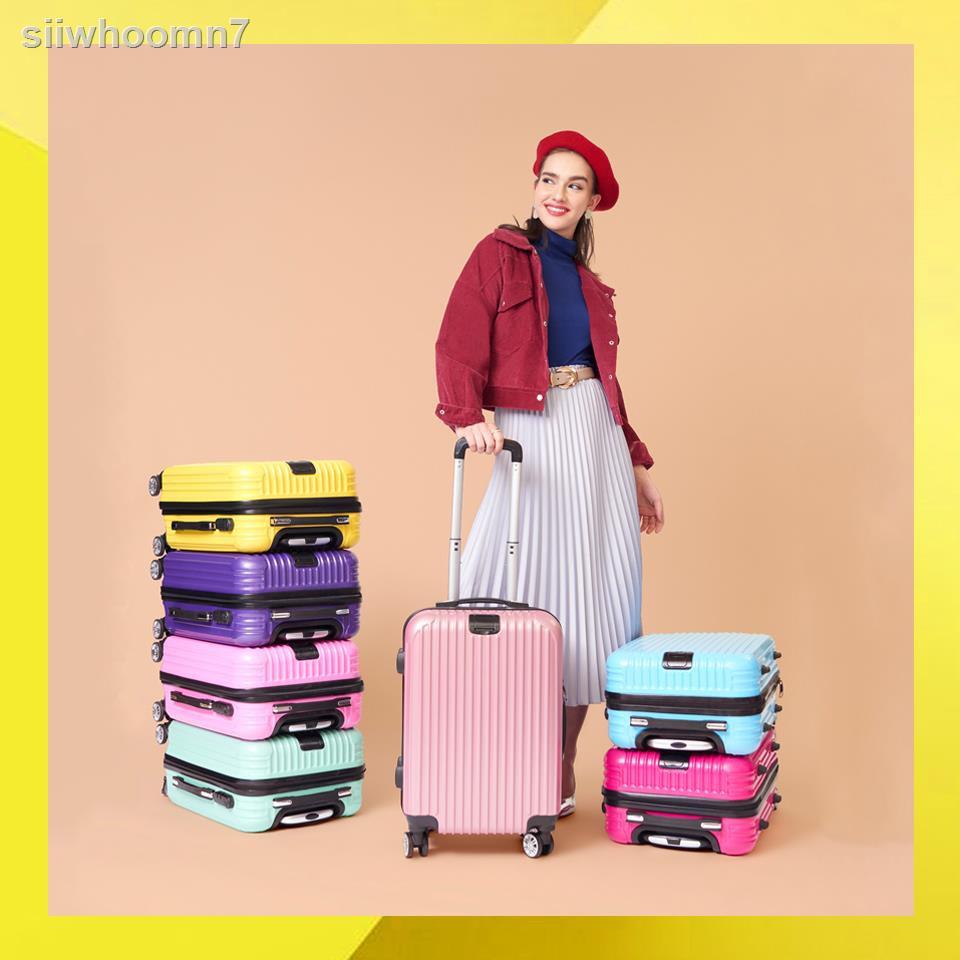กล่องรองเท้า☃Maisy Daisy กระเป๋าเดินทาง ล้อลาก ขนาด 20/24 นิ้ว รุ่น Lollipop วัสดุพลาสติก ABS+โพลีคาร์บอเนต