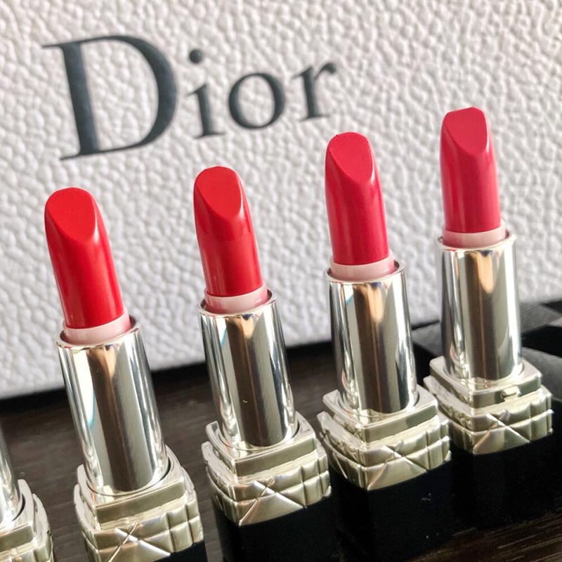 つゕ🔥จัดส่งที่รวดเร็ว🔥ลิปสติกเนื้อแมทให้ความชุ่มชื้นและไม่เหนียวเหนอะหนะDior Dior Lipstick symp Counter ของแท้999 Moistu