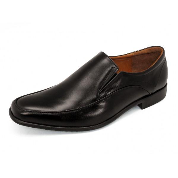 TAYWIN(แท้) รองเท้าคัชชูหนังแท้ ผู้ชาย รุ่น MB-04 หนังนิ่มสีดำ