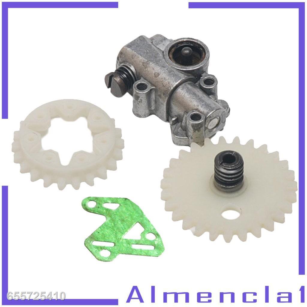 ☍✕( Almencla1 ) ชุดล้อปั๊มน้ํามันเกียร์สําหรับ Stihl Ms 028 038 048 380 381