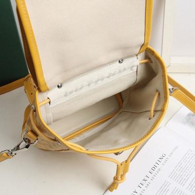 Goyard Goyard Goyard กระเป๋าผู้หญิงกระเป๋าเป้สะพายหลังแบบรูดสายหนังสะพายไหล่สะพายข้างสำหรับผู้หญิงกระเป๋าใบเล็กสำหรับบุร