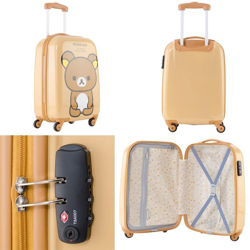 Rilakkuma กระเป๋าเดินทางคอลเลคชั่นริลัคคุมะ R25357 ขนาด 20 นิ้ว แถมฟรีใบเล็กสีเหลือง HSro
