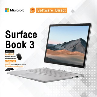 "[V6F-00021]-Microsoft Surface Book 3(จอ 13.5"" / Core i5 / Ram 8GB / SSD 256GB)-(ฟรี ✿ เม้าส์)-[Software Direct]"