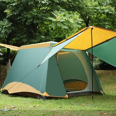 เต็นท์กันพายุ Sha mo Camel ขนาด 3-4 คน ผ้า Oxford 150D 240x200x170 cm.เต็นท์สนาม กันฝน กันยุง แมลง เต็นท์สนาม กางเต็นท์