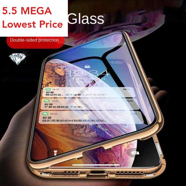 เคสโทรศัพท์มือถือแบบสองด้านสําหรับ Iphone X Xr Xs 11 12 Pro Max Se Mini Plus Pdy4