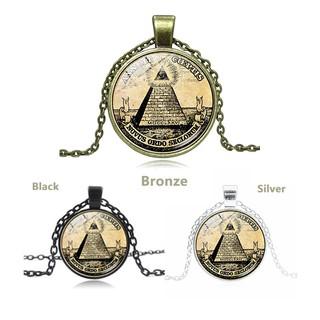 1 pcs Symbol Masonic Illuminati Time Gemstone Necklace