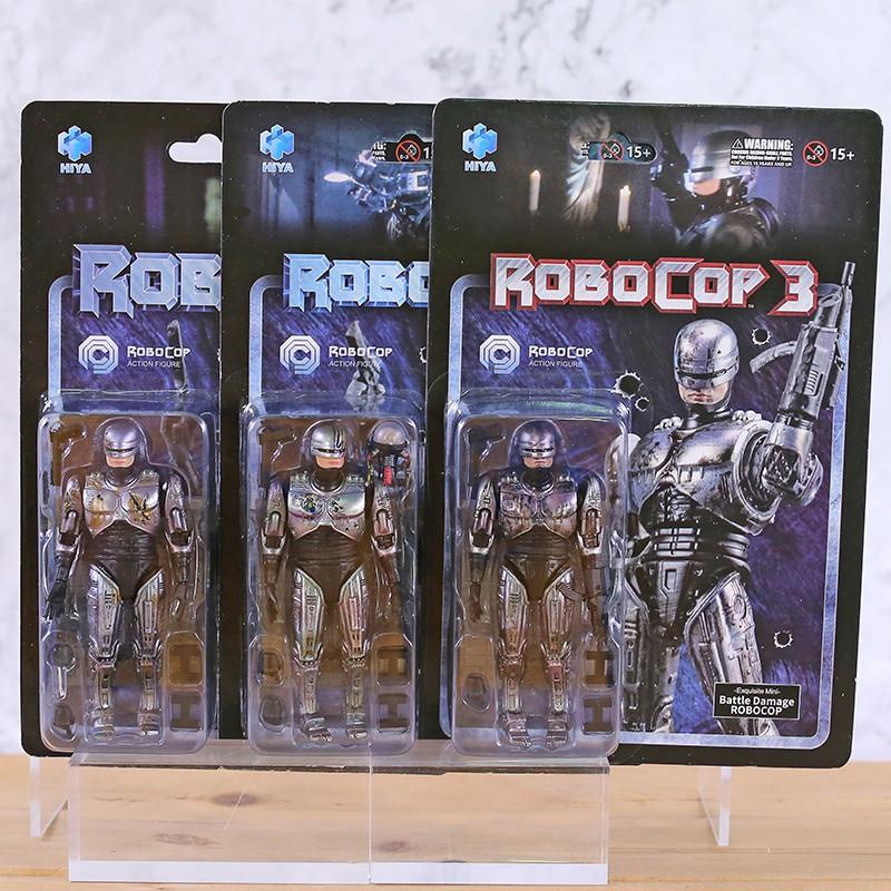 ♗Hiya Toys 1 / 18th Scale Battle Damage ROBOCOP Acton Figure